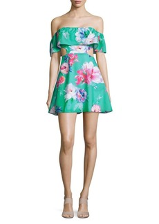 6 Shore Road by Pooja Main Off-the-Shoulder Floral Beach Dress