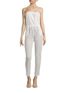 6 Shore Road by Pooja Meet Me Lace Strapless Jumpsuit