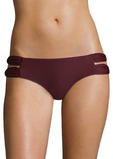 6 Shore Road Soho Double Ruched Straps Bikini Bottom