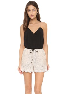 6 Shore Road by Pooja Women's Malay Lace Open-Back Romper Cover Up