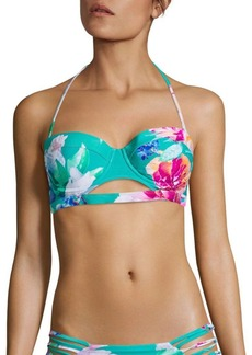 6 Shore Road by Pooja Cruiser Floral Printed Bikini Top