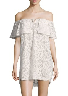 6 Shore Road Off-Shoulder Ruffle Cover-Up