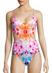 6 Shore Road by Pooja Printed Cutout One-Piece