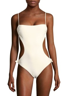 6 Shore Road by Pooja Seashell Side-Cutout One-Piece Swimsuit