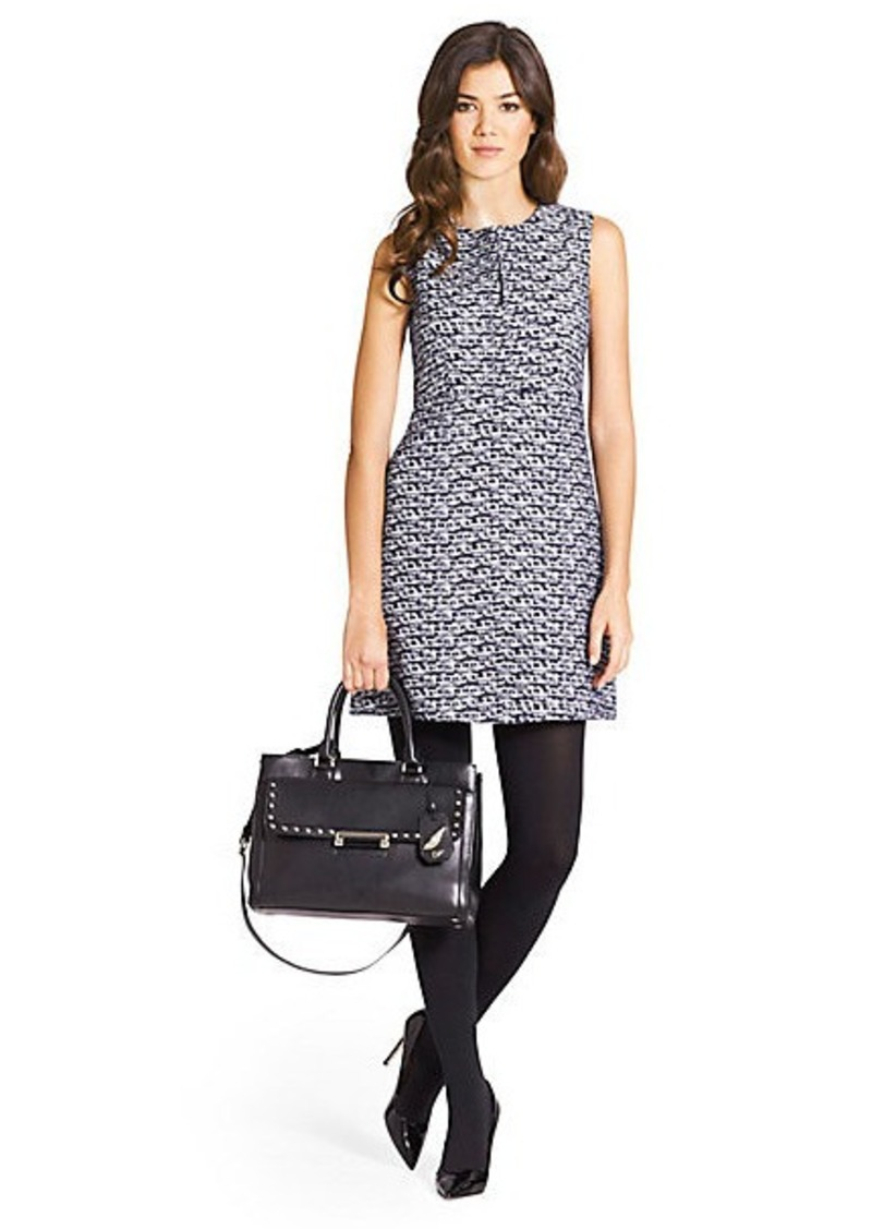 Diane Von Furstenberg Yvette Tweed A-Line Mini Dress