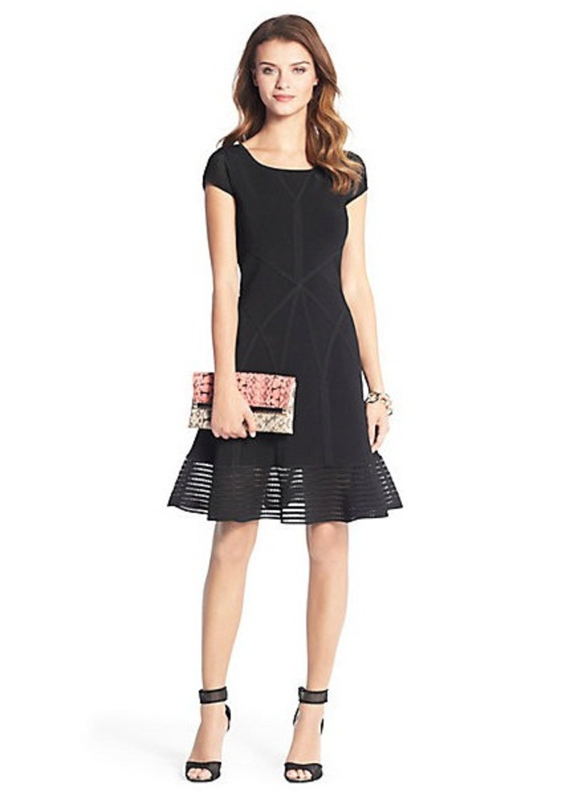 Diane Von Furstenberg St. Petersburg Fit and Flare Knit Dress