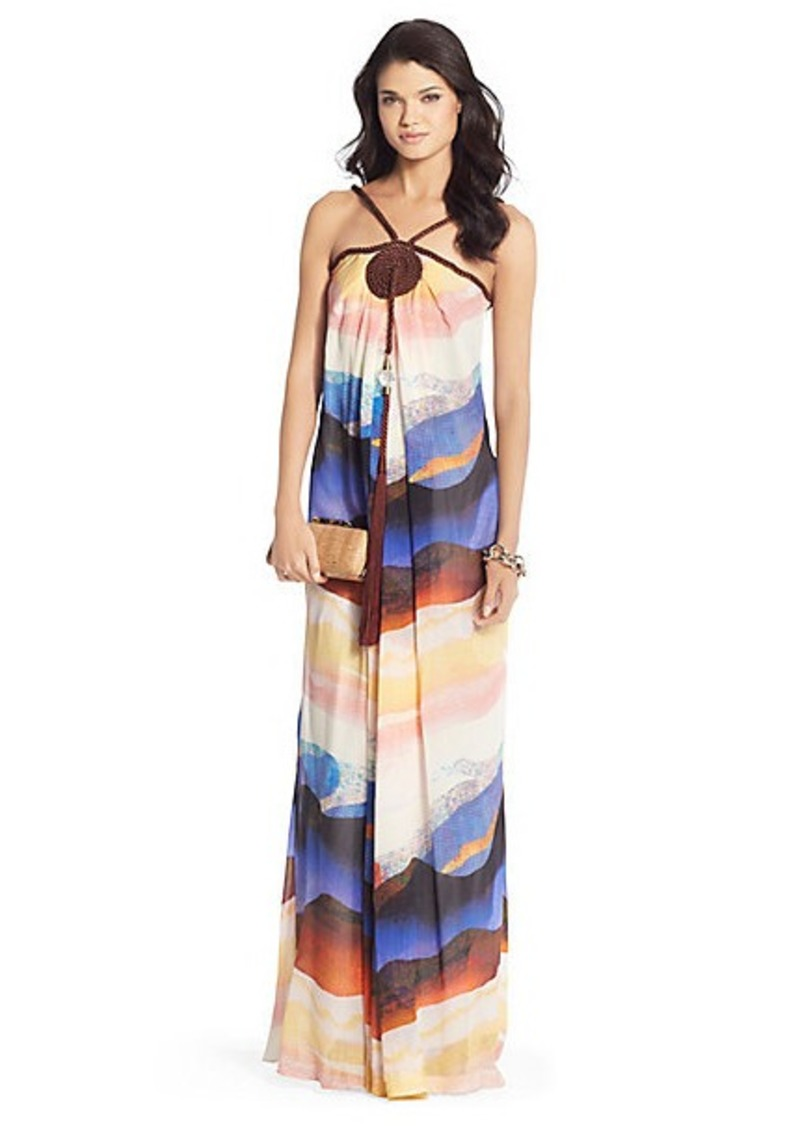 Diane Von Furstenberg Teddy Tassle Silk Chiffon Gown