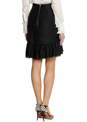 Emilio Pucci Silk and wool-blend skirt