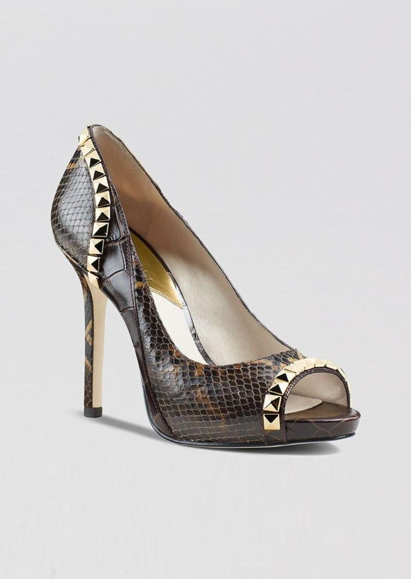 michael michael kors michael michael kors peep toe platform pumps ella high heel shoes. Black Bedroom Furniture Sets. Home Design Ideas