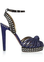 Lanvin Crystal-embellished suede sandals