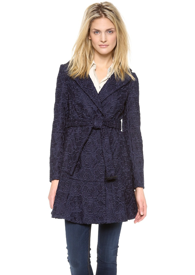 diane von furstenberg diane von furstenberg tasha lace trench coat outerwear shop it to me. Black Bedroom Furniture Sets. Home Design Ideas