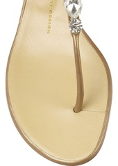 Giuseppe Zanotti Embellished metallic leather wedge sandals