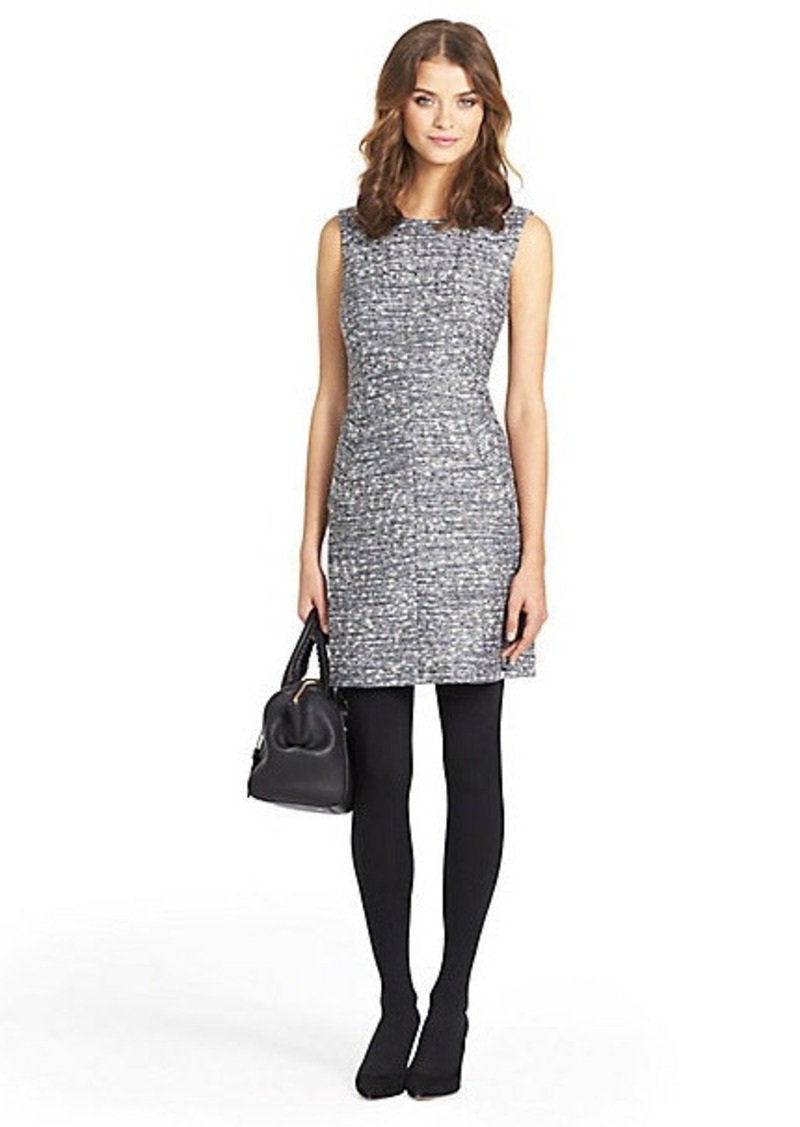 Diane Von Furstenberg Carpreena Tweed A-line Mini Dress