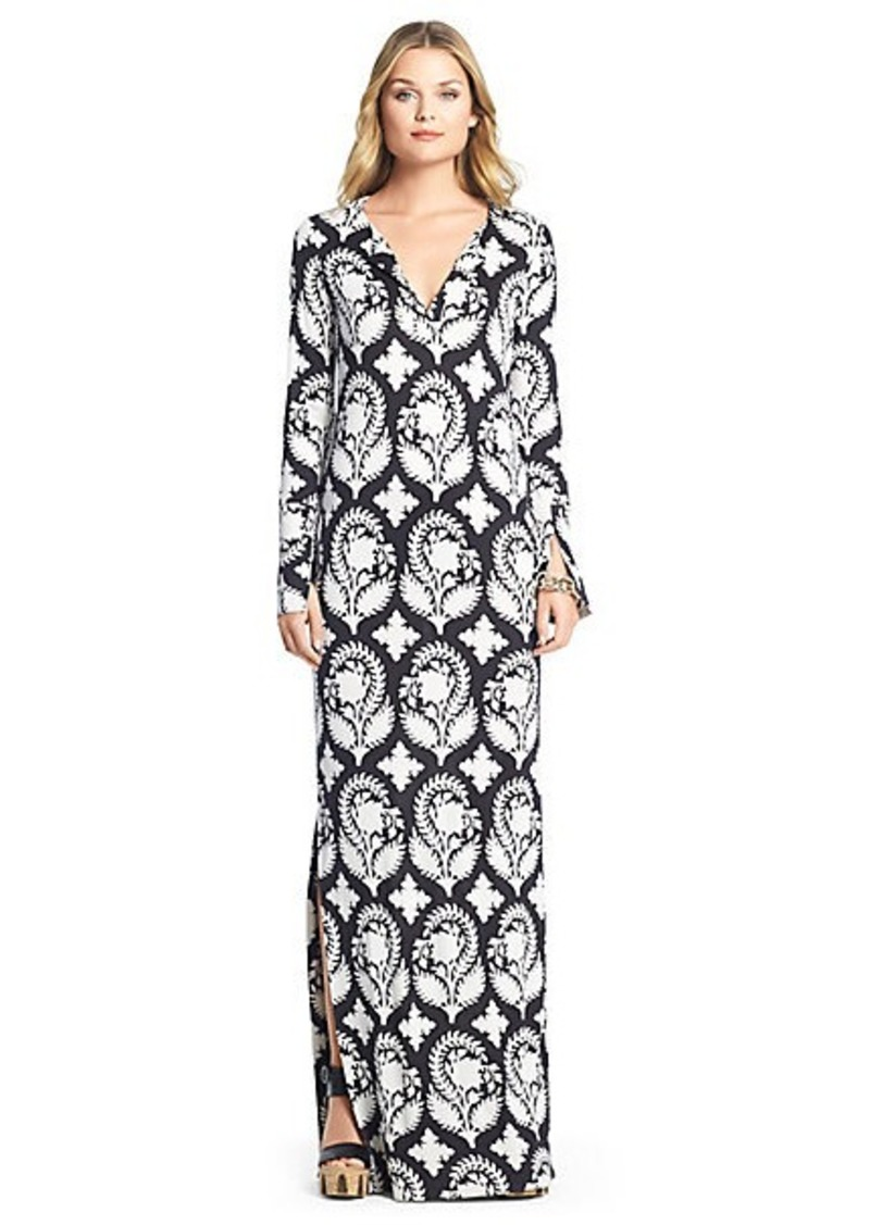 Diane Von Furstenberg Mazel Silk Jersey Maxi Dress