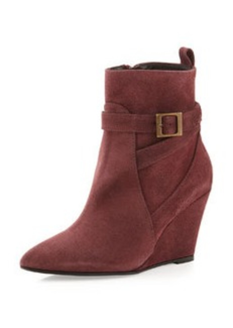 Charles David Esme Suede Wedge Bootie, Bordeaux
