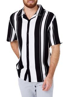 7 Diamonds All Shook Up Slim Fit Stripe Camp Shirt