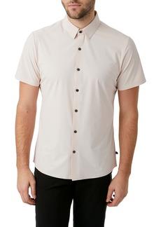 7 Diamonds American Me Slim Fit Short Sleeve Button-Up Performance Shirt