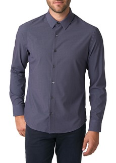 7 Diamonds Between Tides Slim Fit Dot Stretch Button-Up Shirt