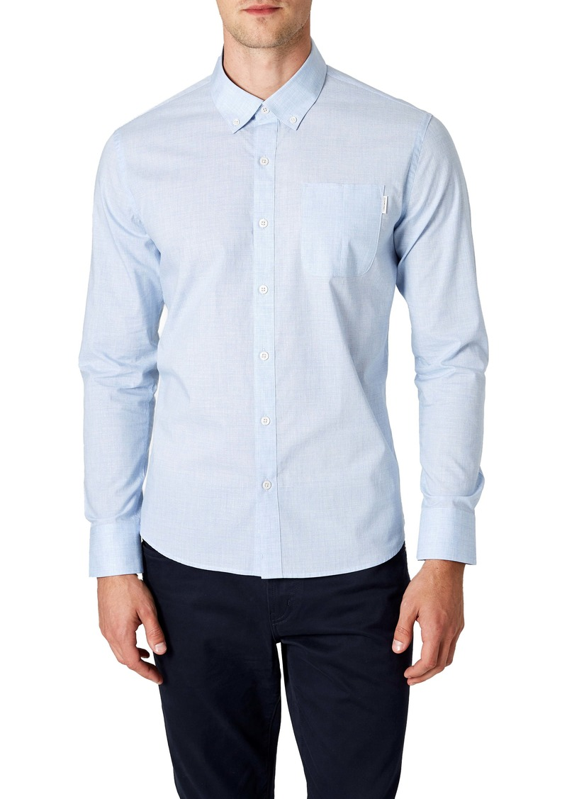7 Diamonds Blurred Lines Slim Fit Button-Down Shirt