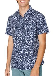 7 Diamonds Brushstroke Short Sleeve Button-Up Performance Shirt