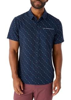 7 Diamonds Castle Walk Slim Fit Stretch Geometric Button-Up Shirt