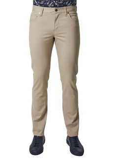 7 Diamonds Clifton Slim Brushed Twill Slim Straight Leg Five-Pocket Pants