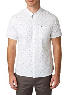7 Diamonds Dark Star Slim Fit Floral Print Shirt
