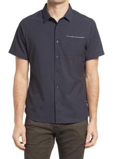7 Diamonds Digital Dash Performance Short Sleeve Button-Up Shirt