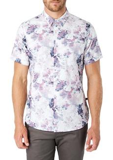 7 Diamonds Dreamland Slim Fit Floral Short Sleeve Button-Up Shirt