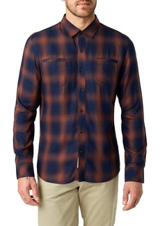 7 Diamonds Ewan Trim Fit Flannel Shirt