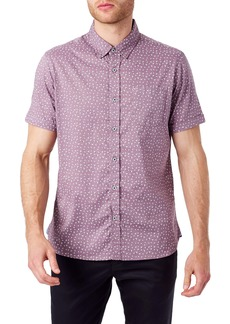7 Diamonds Eyes of the Muse Slim Fit Short Sleeve Button-Down Sport Shirt