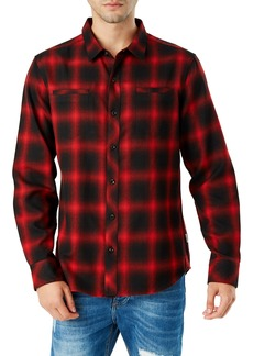7 Diamonds Falcon Slim Fit Check Sport Shirt