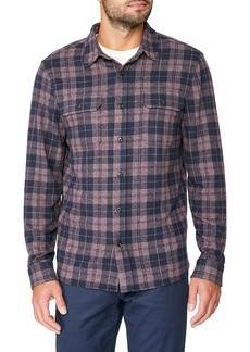 7 Diamonds Ford Slim Fit Stretch Plaid Flannel Button-Up Shirt