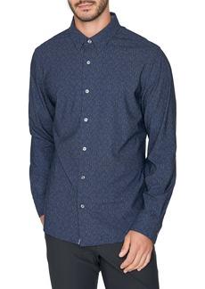 7 Diamonds Future Retro Slim Fit Stretch Button-Up Shirt