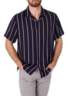 7 Diamonds Get Rhythm Slim Fit Stripe Camp Shirt