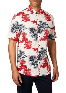 7 Diamonds Habanero Trim Fit Print Sport Shirt