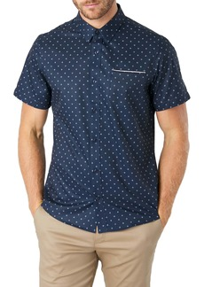 7 Diamonds Highway Star Slim Fit Short Sleeve Button-Up Shirt