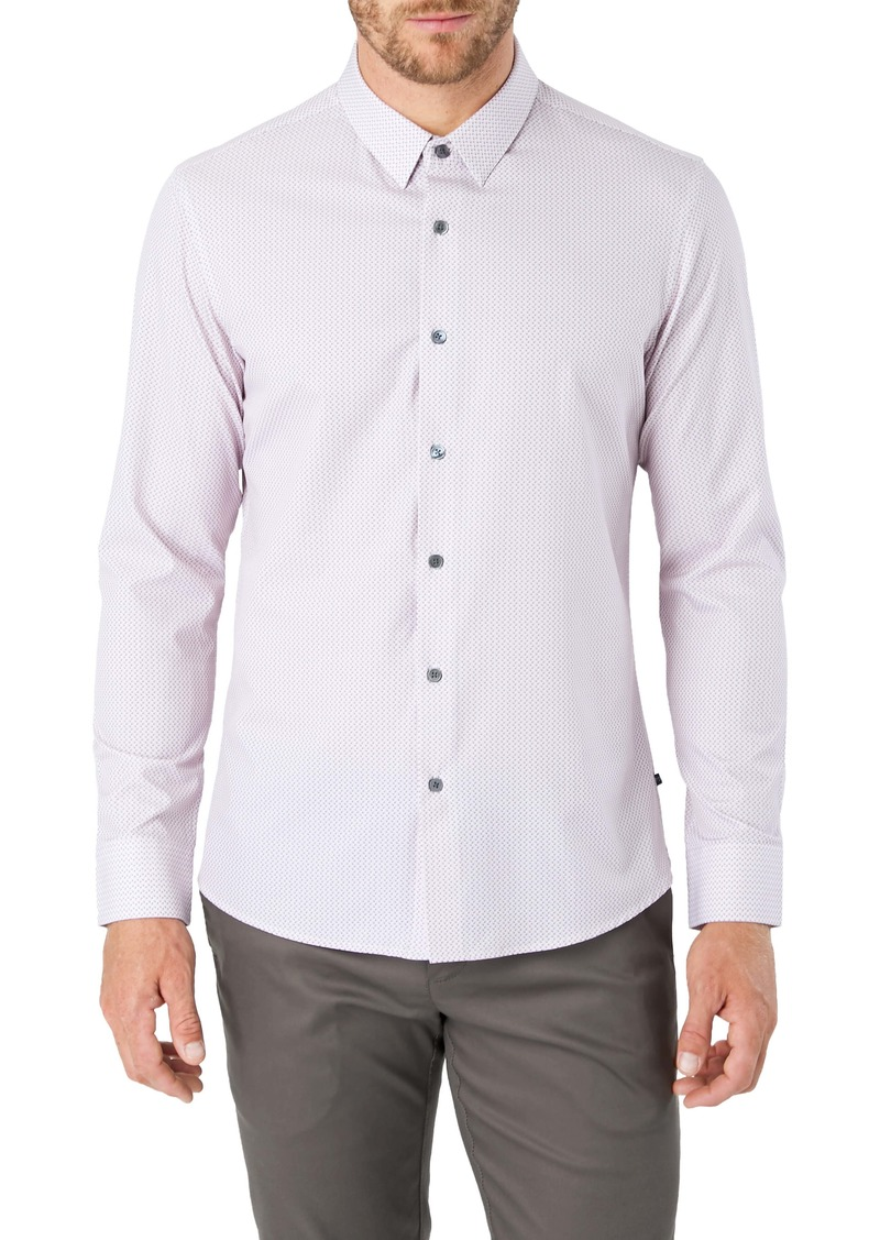 7 Diamonds In My Feelings Slim Fit Button-Up Performance Shirt