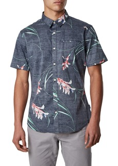 7 Diamonds Inner Bloom Trim Fit Stretch Sport Shirt