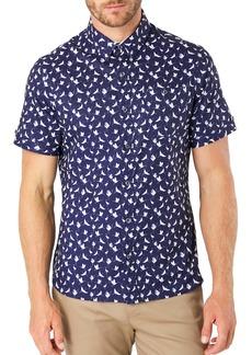 7 Diamonds Kailua Sunrise Print Short Sleeve Button-Up Shirt