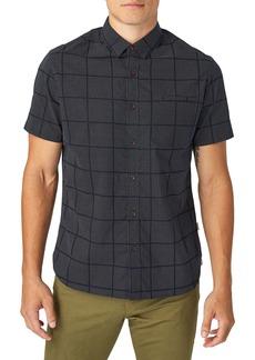 7 Diamonds Liquidator Slim Fit Check Short Sleeve Button-Up Sport Shirt