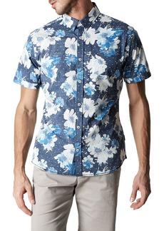 7 Diamonds Paradise Slim Fit Floral Sport Shirt