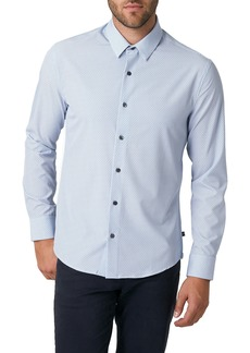 7 Diamonds Love Cycle Slim Fit Print Button-Up Shirt