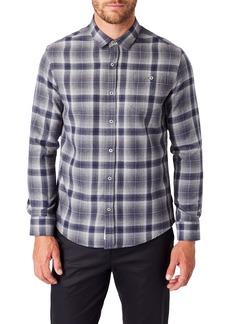 7 Diamonds Maxen Slim Fit Plaid Button-Up Shirt