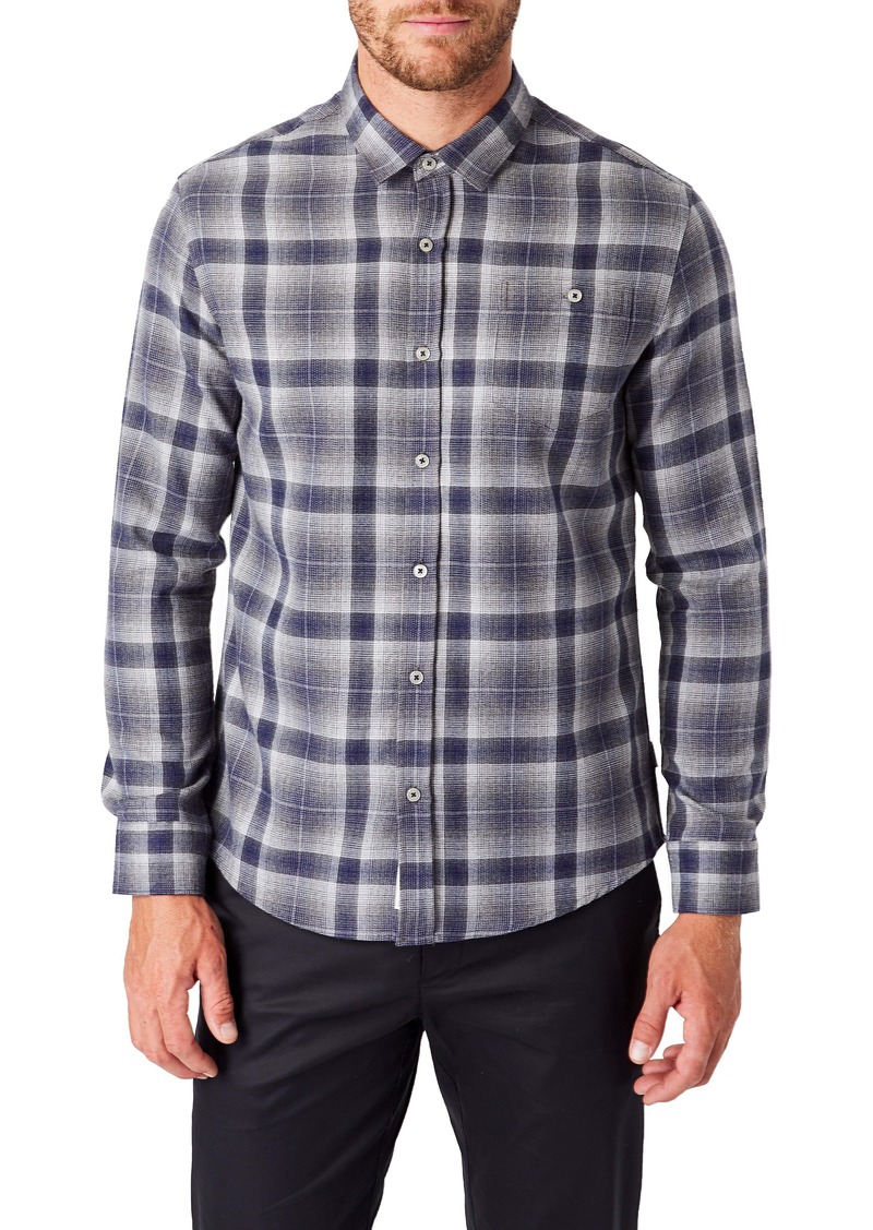 7 Diamonds Maxen Slim Fit Plaid Button-Up Shirt