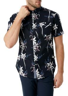 7 Diamonds Midnight Hour Slim Fit Tropical Short Sleeve Button-Down Shirt