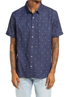 7 Diamonds Miles Ahead Floral Short Sleeve Button-Up Shirt