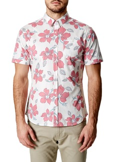 7 Diamonds Mind Shaft Trim Fit Floral Sport Shirt