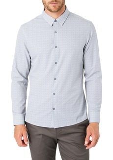 7 Diamonds Morning After Slim Fit Print Button-Up Shirt