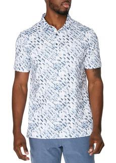 7 Diamonds Mr. Blue Sky Stretch Print Polo Shirt
